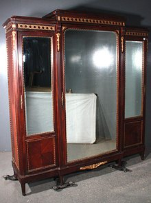 BEST LARGE FRENCH MAHOGANY BRONZE MOUNTED ARMOIRE EVER