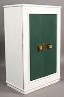 GREAT FRENCH ART DECO 2 DOOR CABINET ARMOIRE CHIFFONIER