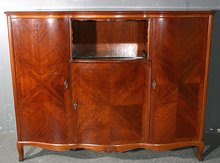 RARE TALL ROSEWOOD FRENCH SIDEBOARD BUFFET CREDENZA BAR