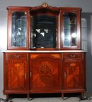 BEST INLAID FRENCH BREAKFRONT SIDEBOARD BUFFET SERVER