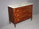 FRENCH LOUIS XVI MARBLE COMMODE CHEST BRASS J6918