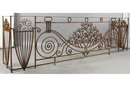 ANTIQUE LARGE FRENCH ART DECO WROUGHT IRON BALCONY