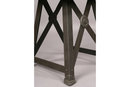 GREAT PAIR INDUSTRIAL DECORATIVE STEEL END TABLES