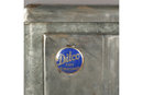 VINTAGE DITCO ART DECO METAL CLAD ICE BOX WITH SHELVING