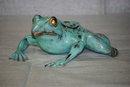 Sculpture bronze bull frog Italian 1900
