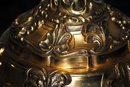 Pair gilded bronze candelabras Italian 1930