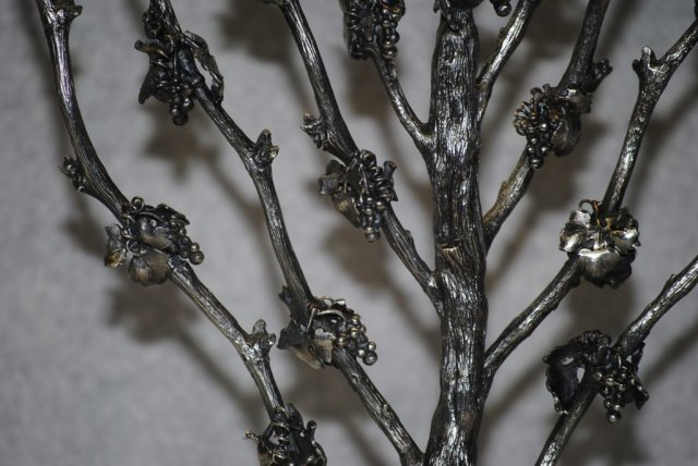 Grape tree sterling silver menorah Italian 1930