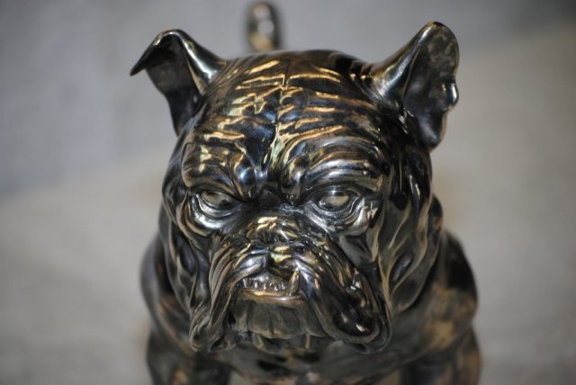 Sterling silver British bulldog Italian 1940