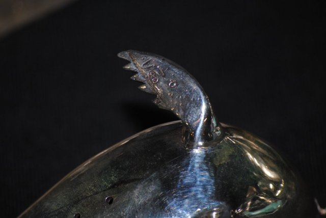 Seals family sculpture sterling silver, Italian 1940
