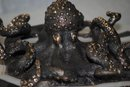 Pair of bronze octopus Italian 1950