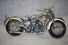 Italian sterling silver Harley Davidson Flathead 1940 motorcycle