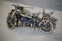 Italian sterling silver BMW R75 motorcycle