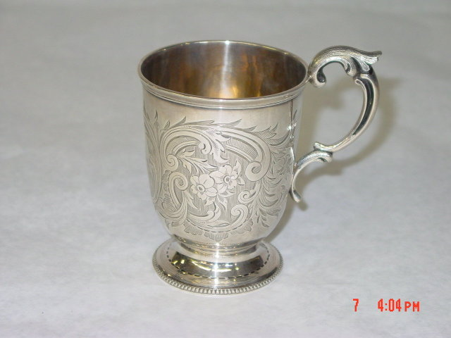 Antique Victorian mug city of London 1865
