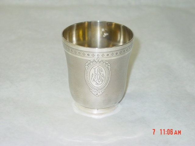 Antique French baby cup year 1880