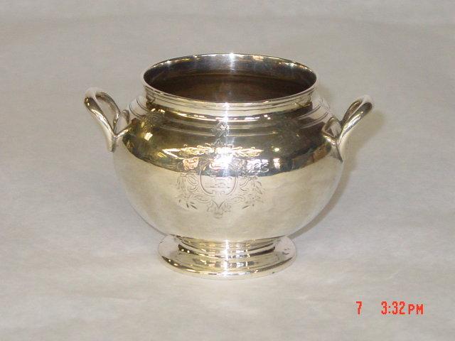 Antique sugar bowl Victorian London 1859