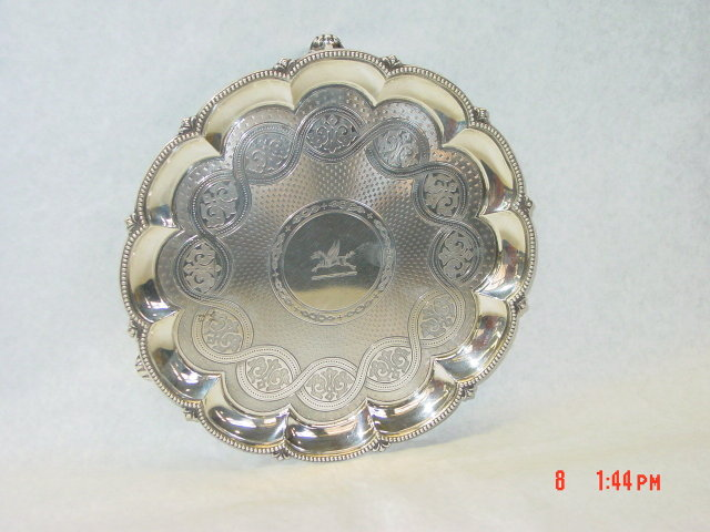 Antique salver Victorian London 1864