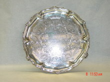 Antique salver Victorian London 1860