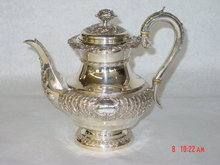 Antique coffee pot George IV  London 1825