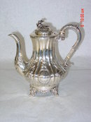 Antique coffee pot Victorian London 1846