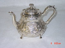 Antique tea pot Victorian London 1850