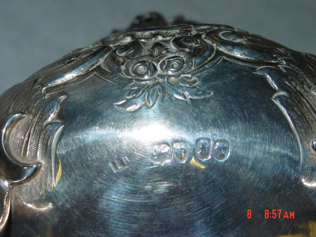 Antique tea pot Victorian London 1850