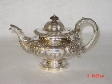 Antique tea pot Victorian London 1839