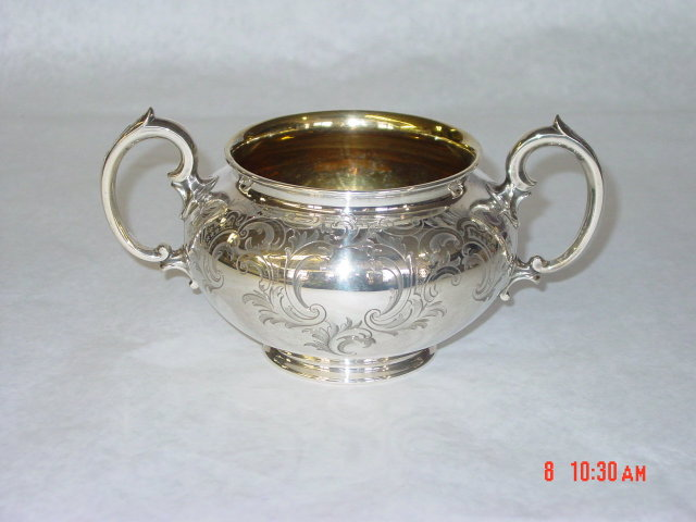 Sugar bowl Victorian London 1849