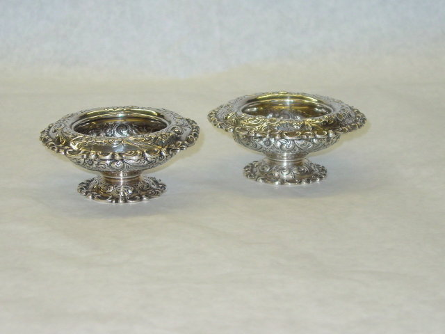 Pair salt cellars Bailey Banks & Biddle America 1920