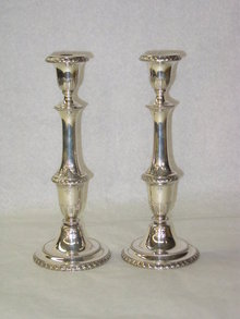 Matthews & Co pair candlesticks America 1900