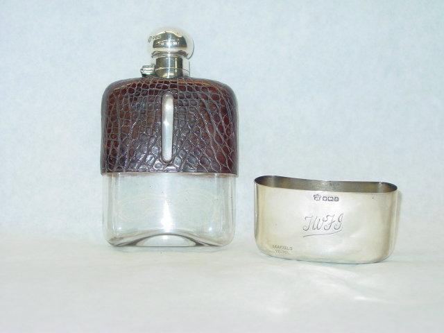 Pocket flask city of Sheffield 1906