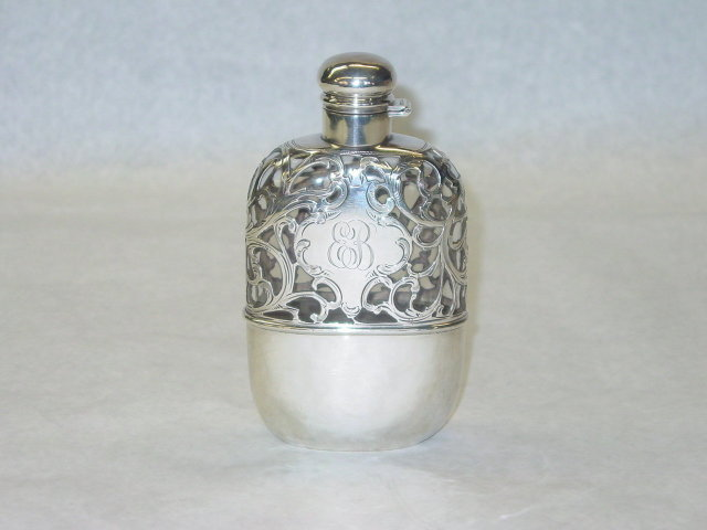 Alvin Co. pocket flask America 1890