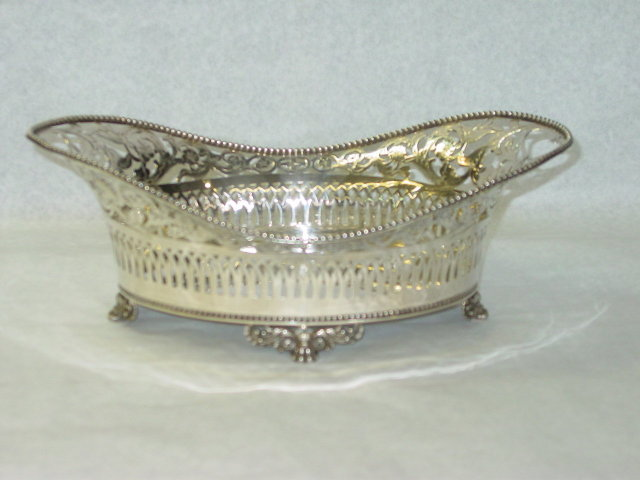 Antique oval shaped  pierced basket Tiffany & Co. 1883