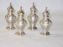 Antique salt cellars set Gorham & Co. America 1902