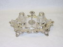 Antique inkstand Victorian Sheffield 1887