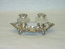 Antique inkstand Victorian London 1885