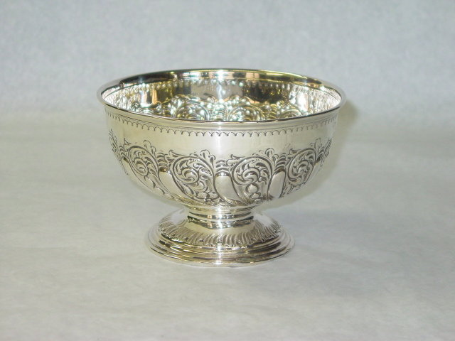 Antique bowl Sheffield 1897