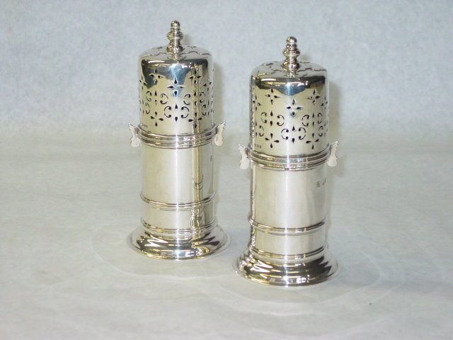 Antique pair sugar caster London 1891