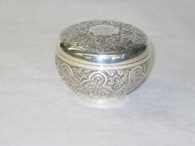 Antique round shaped box London 1890