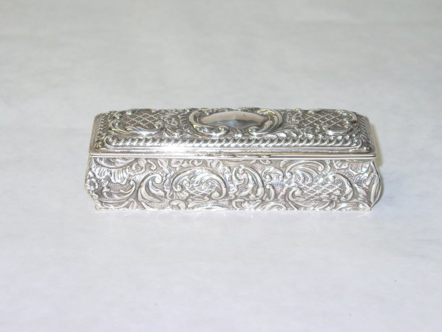 Antique diamond rings box Birmingham 1902