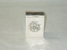 Antique playing cards holder box Birmingham 1902