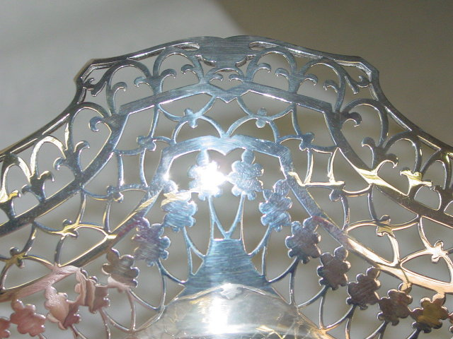 Antique pierced basket Sheffield 1938