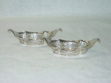 Antique pair pierced candies baskets London 1897