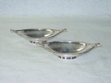 Antique pair pierced candies baskets Chester 1912