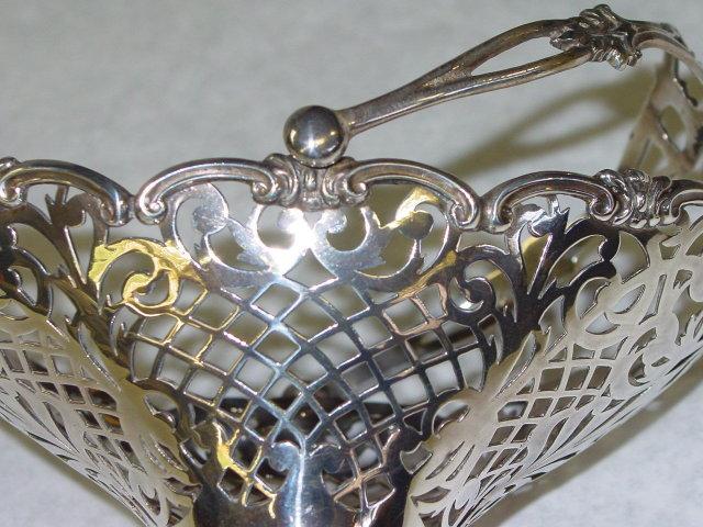 Antiques pierced candies basket Birmingham 1910