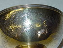 Antique vermeille candies bowl Victorian London 1876
