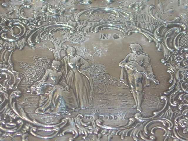 Antique chased plate London 1895