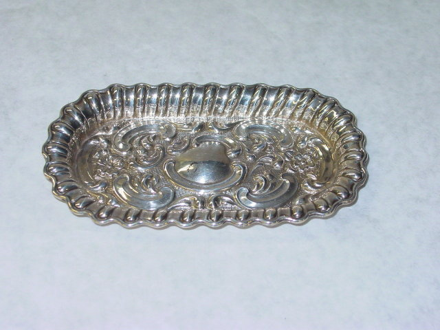 Antique oval plate Birmingham 1901