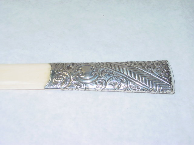 Antique ivory letter opener Birmingham 1901