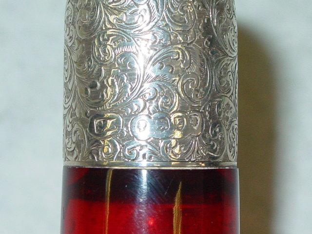 Antique double perfume bottle Victorian London 1880