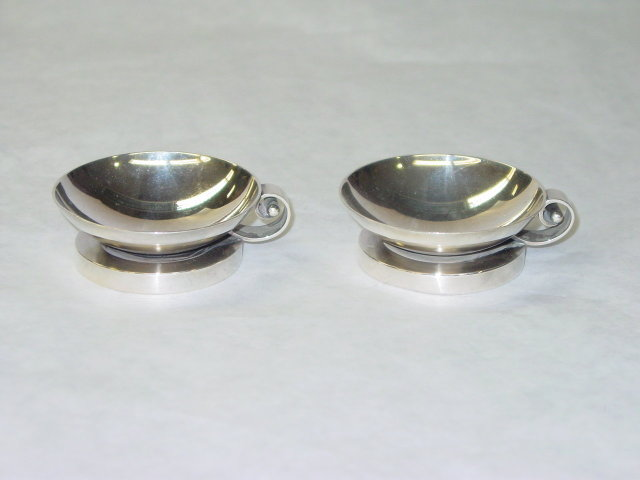 Antique pair salt cellars Evald Nielsen Denmark 1920